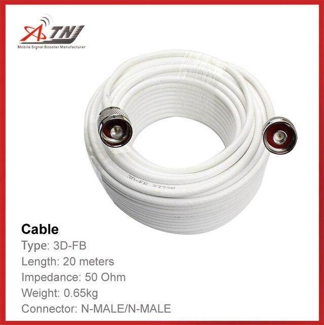 Nueva Llegada!! de Calidad superior, ATNJ 3D-FB RG58 20 m N Macho/N Macho Cable Coaxial Cable