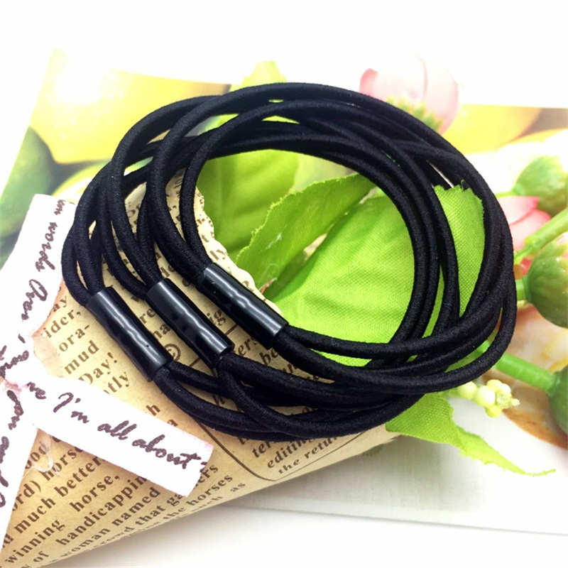 Black Double Rope Child Hair Accessories For Women Headband,Elastic Bands For Hair For Girls,Hair Band Hair Ornaments For Kids