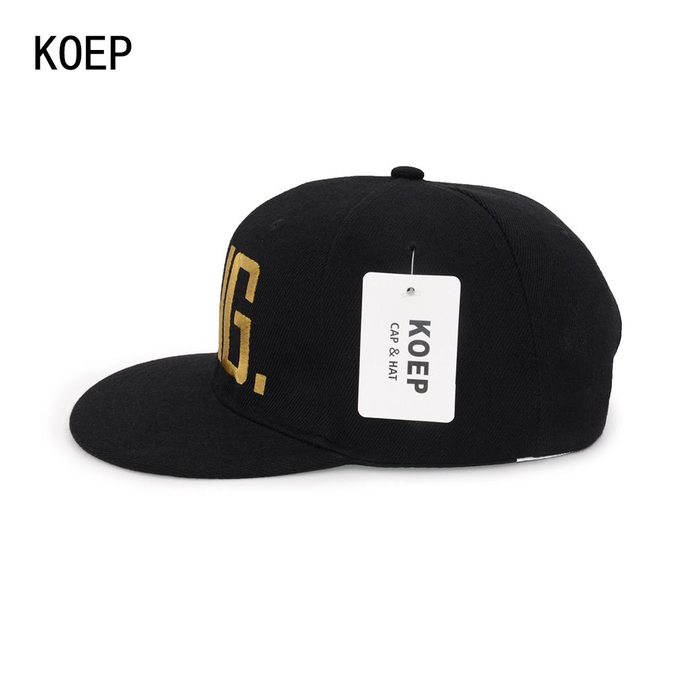 black snapback hat KOEP®-HHC-17-GK-4