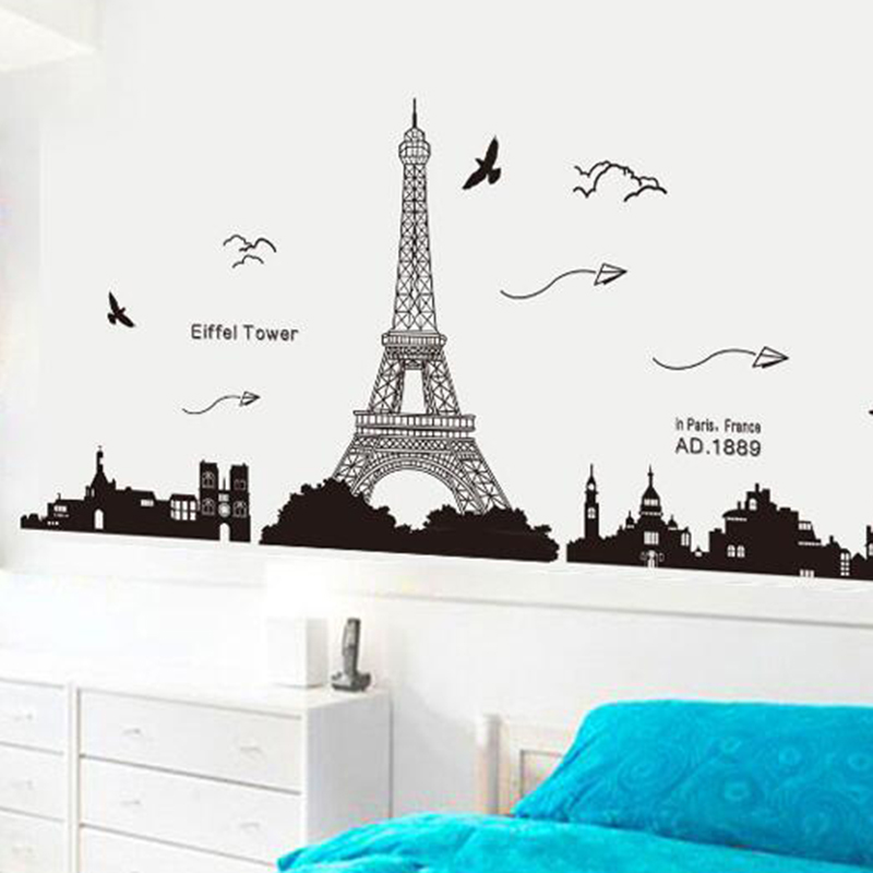 Iron Tower Wall Sticker Removable Vinyl Decal Home Living Room DIY Office Decor