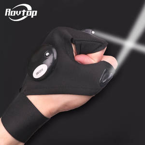 Rovtop Tire-Repair-Tools Fingerless-Glove Led-Light Outdoor Bike Car with Gear Magic-Strap