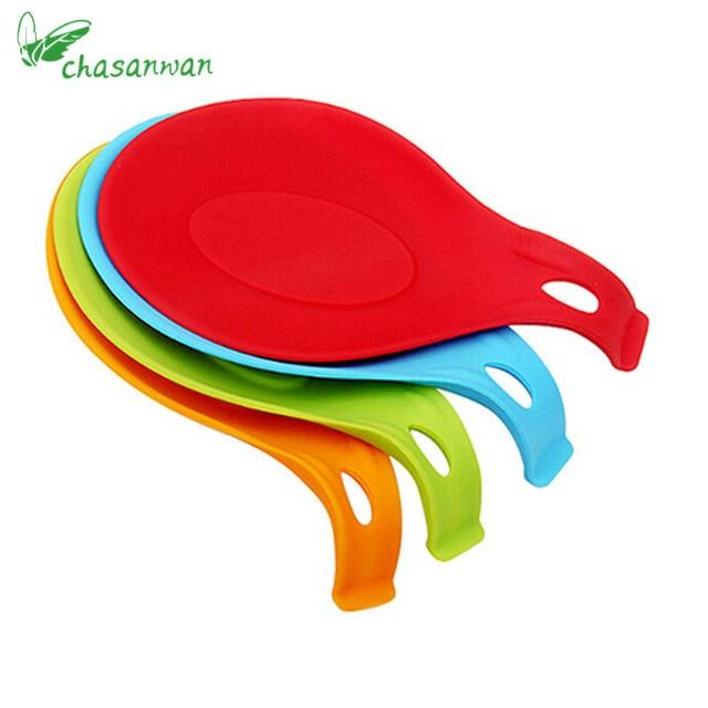 1Pc Candy Color Kitchen Accessories Small Silicone Spoon Pad ...
