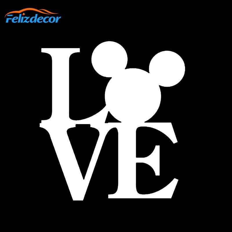 Nuovo Stile di Mickey Mouse AMORE Del Fumetto Adesivo Auto Specchio Retrovisore Decal Per Auto Body Finestra Paraurti Carino Decalcomanie Impermeabile L090
