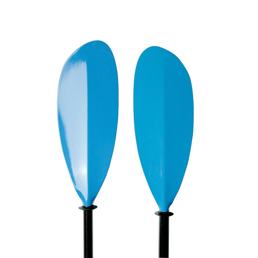 Venta caliente Kayak Paleta Fibreglasst Hoja y Ova Eje de carbono Ajuste de longitud de 10 cm y bolsa gratis-Q05
