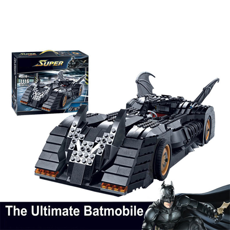 New 7116 Superheroes Batmen The Ultimate Batmobile Building Blocks Bricks Toys Set Boy Game Compatible with leGoINGs 7784 Blocks ...