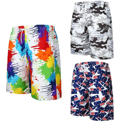 Stylish Hot Sale Simple Men Summer Casual Loose Print Board Swim Shorts Men's Beach Comfortable Knee-length Trunks Shorts M-XXL