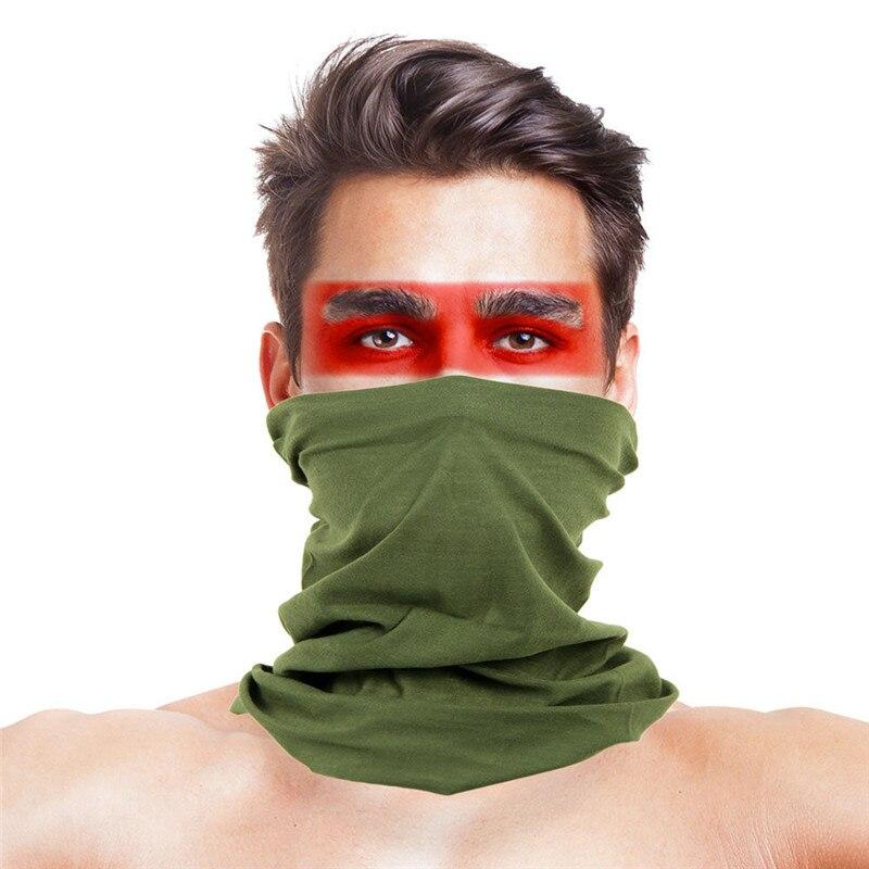 Камуфляжный шарф с высоким прыжком, бандана для мужчин и женщин, маска для лица, тактическая, для улицы, волшебный головной убор, для кемпинга, пешего туризма, шейный шарф - Цвет: 042