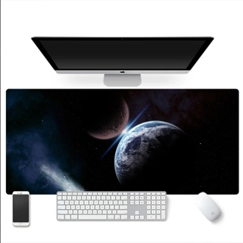 Pbpad store 3mm thicken large size mouse pad laptop computer mouse mats office gaming mousepad lock edge non-slip sky pads
