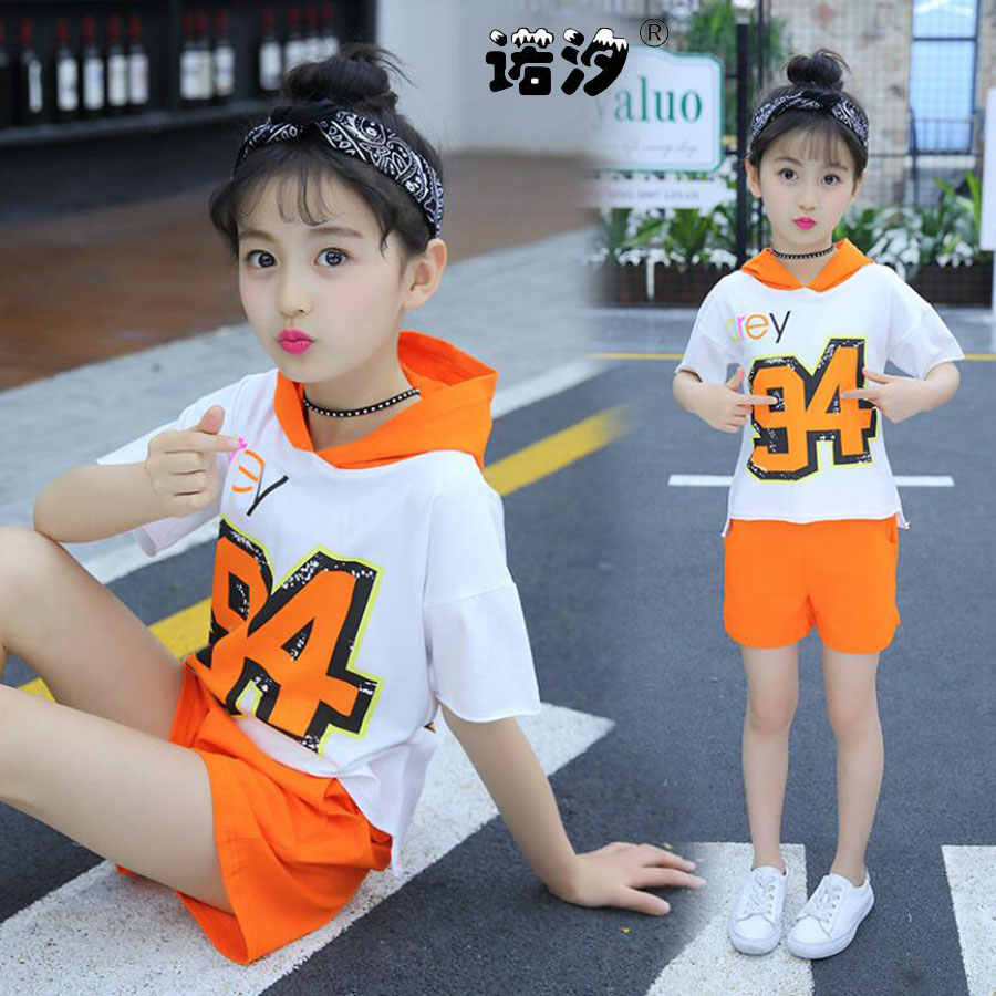 Girls clothes kids sets summer Style tee+shorts children princess soft shirt+trousers 3-13 Y children outwear baby girls clothes