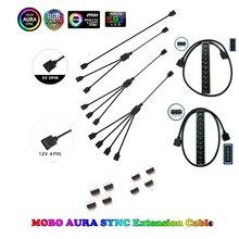Материнская плата интерфейс 3PIN/4PIN AURA RGB 1-4 интерфейс сплиттер адресуемый D-RGB синхронизация концентратор передачи удлинитель