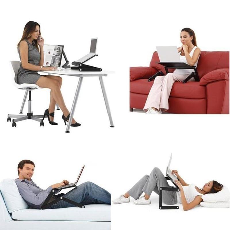 Регулируемый, стол для ноутбука алюминий эргономичный портативный диванные Lapdesk лоток стол из поликарбоната стенд портативный стол стенд с коврик для мыши