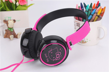 Birthday Gifts Cute Headphones with Mic Candy Color Foldable Kids Headset Earphone for Smartphone Girl Children