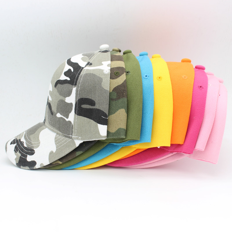 Hot Sale Solid Camouflage Baseball Cap For Women Summer Snapback Hat Headgear Outdoor Anti-UV Visor Love Caps Male Sport Hat fashion handpainted palm sea sailing pattern hot summer jazz hat for boys