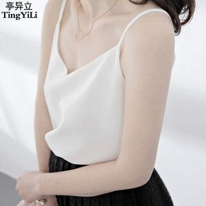 Women Tank Top Sexy Blouse Black White Ladies Summer
