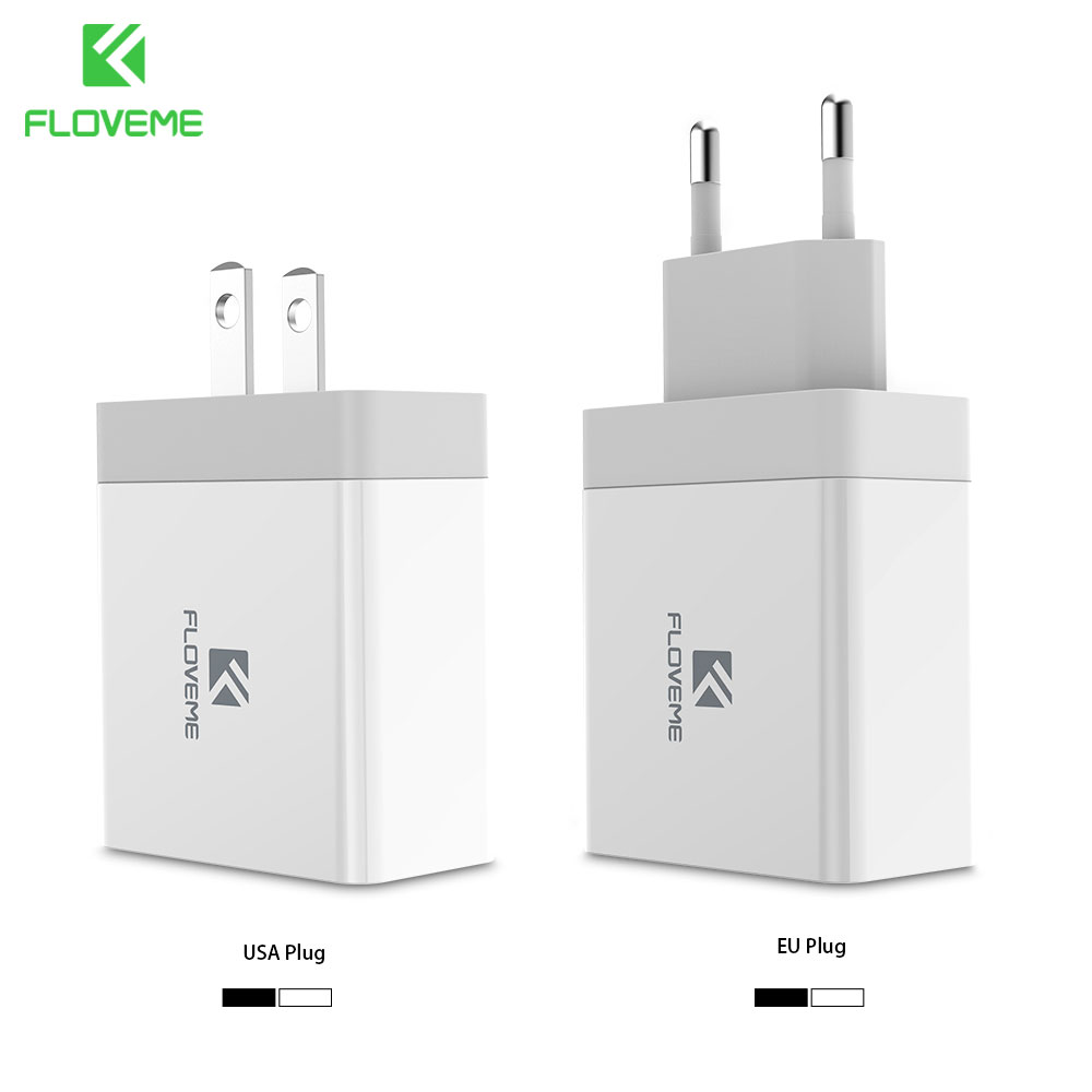 FLOVEME 2 Ports 5 V/3.4A USB Reise Schnelle Ladegerät Für iPhone 6 7 One Plus OnePlus 5 T 3 Tragbare SmartPhone Ladegerät Für Samsung S8