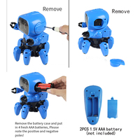 2019 New Arrival DIY Children Assemble 6 Legged Gesture Sensing Infrared Avoid Obstacle Walking Robot Toy RC Robot Funny Toys