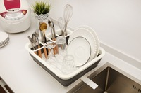 Folding Dish Rack Home Kitchen Organizers Kitchen Storage Boxes Shelf Plate Dish Drainer Bowl Cup Spoon free shipping