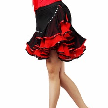Womens Latin Salsa Tango Rumba Cha Ballroom Dance Dress Skirt Square Costume Samba for Women