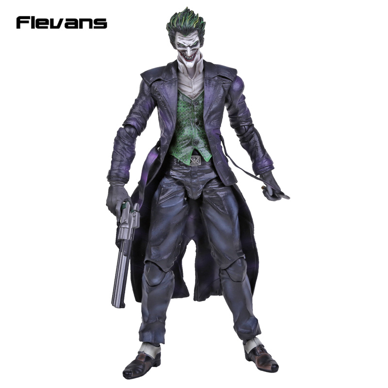 Play Arts KAI Batman Arkham Origins NO.4 The Joker PVC Action Figure Collectible Toy 26cm batman the joker playing poker ver pvc action figure collectible model toy 19cm