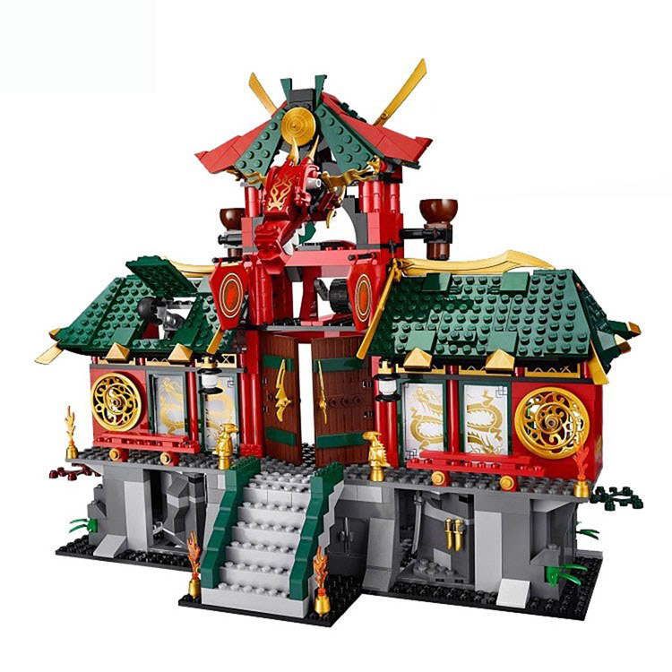 Legoing Titanium Dragon War 70728 Ninja series 1223 Building Blcok set Brick compatible 9797 Toys for children Gift legoing chaos warriors caves 70596 ninja series 1307 building blcok set brick compatible 10530 toys for children gift