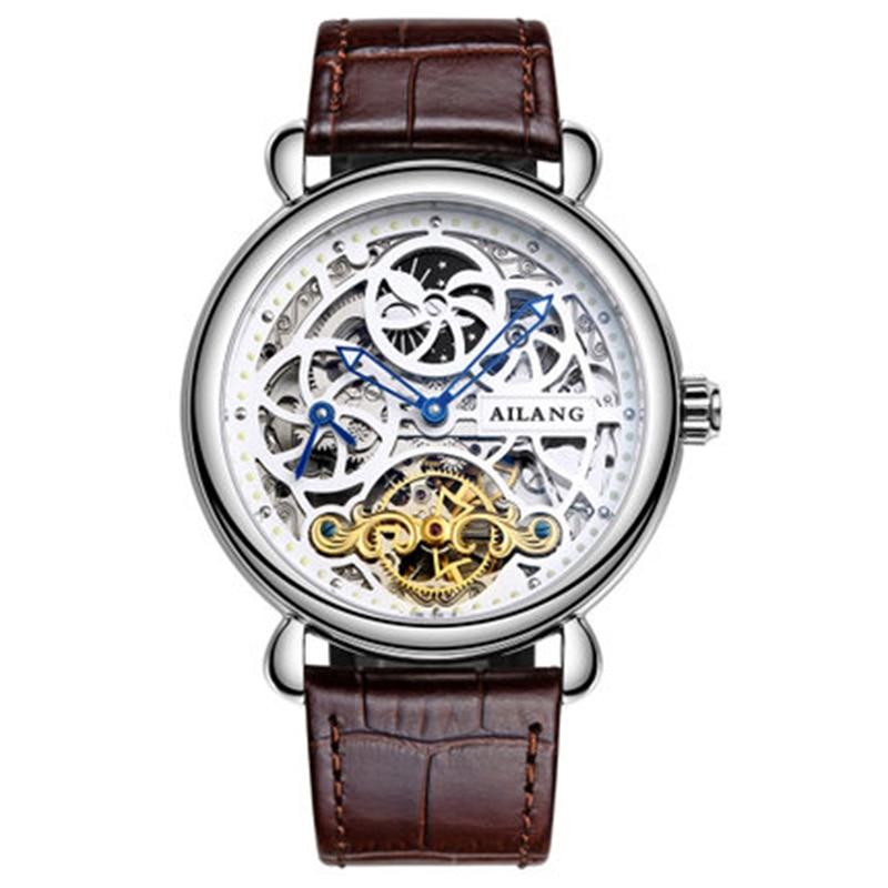 Deluxe automático reloj mecánico dial doble zona horaria función - Relojes para hombres - foto 3
