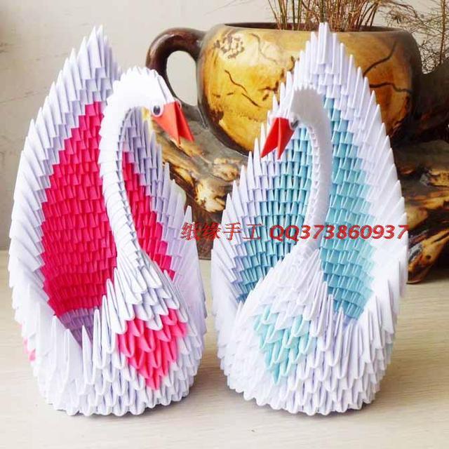 3d Handmade Origami Paper Swan Gift For Kids Romantic Gift
