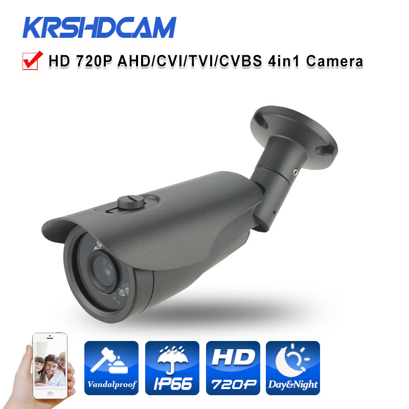 720P AHD Camera 1.0MP Outdoor Bullet waterproof ip66 security CCTV HD Lens Night Vision With IR-CUT with 3-Axis bracket 24IR BNC free shipping new waterproof ahd 720p bullet metal camera hd 1mp cctv outdoor security 24 ir night vision bnc cable