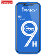 for iPhone XS Screen Protector IPAKY MAX Full Cover 9H 5D Tempered Glass Film XR