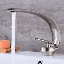 цена на OUYASHI basin faucet deck mounted single handle single hole cold and hot waterfall moon shape