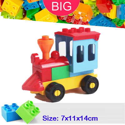 Large Building Block Fit Duplo Parts Airplane Car 2312 Train Base 2x6 with Wheel Classic Piece Big Dot Brick Accessory Bricklink 2016 extra large 3d printer with 400x400x470mm building envelope
