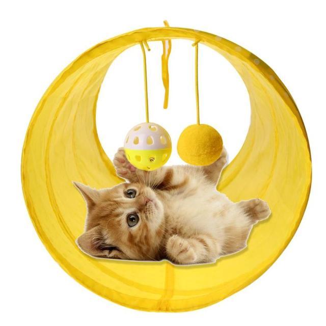 Divertente Pet Cat Tunnel Gatto Gioca Tunnel Tubi Pieghevole Crinkle Gattino Gat