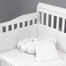 Качественные Детские бамперные накладки для стандартных кроваток машинная стирка мягкий вкладыш для кроватки шелковистая мягкая микрофибра полиэстер, 4 шт