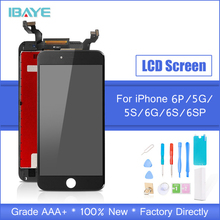 Grade AAA+++ For iPhone 6 6S Plus LCD With 3D Force Touch Screen Digitizer Assembly For iPhone 5S Display No Dead Pixel цена в Москве и Питере
