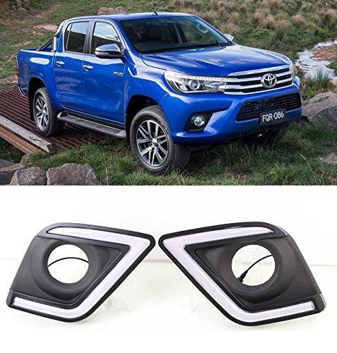Feux de jour LED DRL Daylight Brouillard Lampes Kit pour Toyota Hilux Revo Ramassage 2015-Up