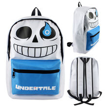 cosplay legend Undertale bag sans backpack school skeleton white color