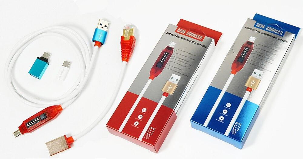 Micro USB RJ45 Multifonction boot tout en 1 câble pour Qualcomm EDL/DFC/9008 support du Mode de charge rapide MTK/SPD Z3X boîte poulpe boîte