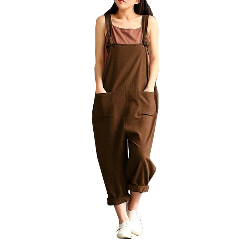 Women   Pants   Loose Waist Cross   Pants   Cotton Trousers Plus Size 3XL 4XL 5XL Bandage Trousers Rompers   Wide     Leg     Pant