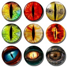 Creative Evil Dragon Eyes fridge magnet decor Eye of Sauron Glass Cabochon refrigerator magnets message board Home Decoration(China)