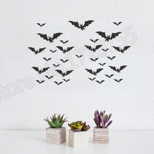 YOYOYU Wall Decal Creative  Halloween Bats Vinyl art stickers Removable Environmental Friendly wall home muralZW52