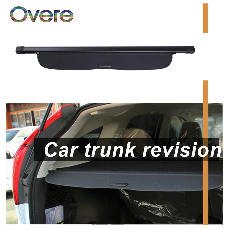 Overe 1Set Car Rear Trunk Cargo Cover For Honda Fit/Jazz 2008 2009 2010 2011 2012 2013 Black Security Shield Shade Accessories fit for volkswagen vw tiguan rear trunk scuff plate stainless steel 2010 2011 2012 2013 tiguan car styling auto accessories