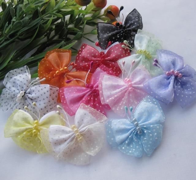 10pc U pick Organza Ribbon Flowers Butterfly Wedding appliques Craft ... d66fd7c0e0f1