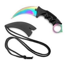 CS GO Counter Strike Karambit Claw marble fade nife Sheath hunt camp tactical fight survive csgo combat self defense hawkbill
