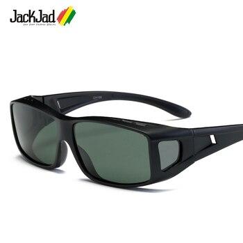 JackJad 2018 Fashion Polarized Lense Driving Fishing Sports Sunglasses Cover For Myopia Glasses Sun Glasses Goggle Oculos De Sol