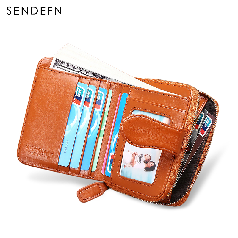 Hot Sale Short Coin Purse Female Leather Wallet Women Wallet Fashion Dollar Small Card Holder Lady