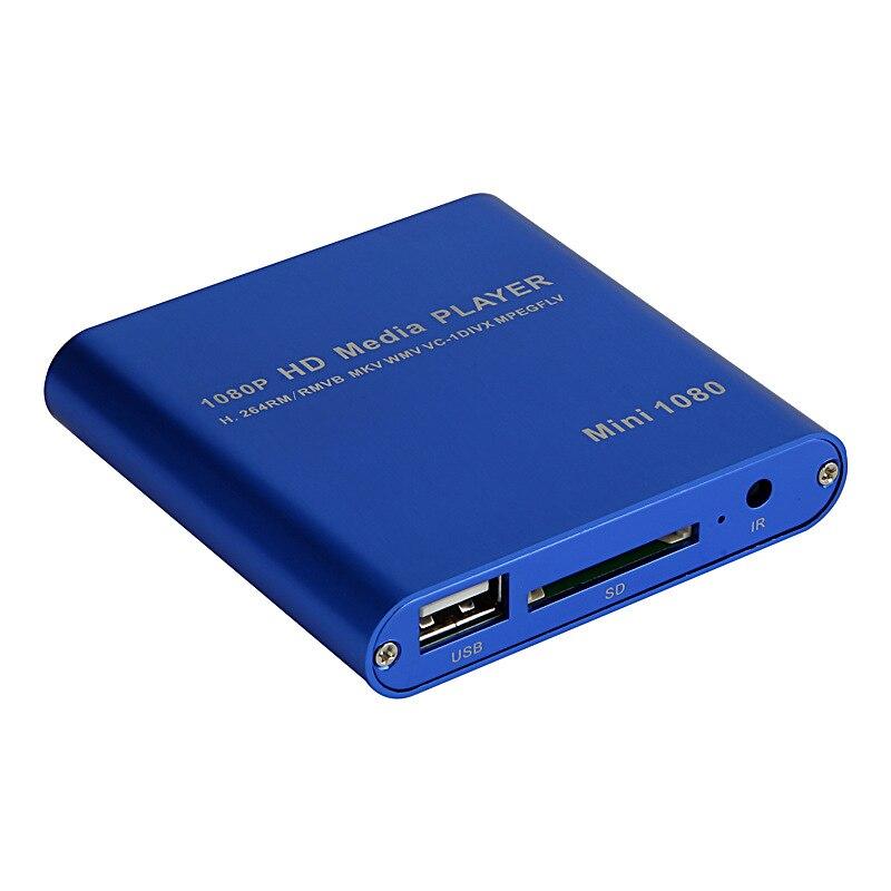Media player full hd 1080 P USB внешний Media Player с HDMI SD Media Box Поддержка MKV H.264 RMVB WMV медиаплеер для автомобиля P021