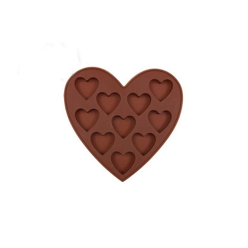 Saingace 1pc Ice Mold Heart Shape Tray Creative Chocolate DIY Mould Cute Valentines Day Weeding Decor Happy Sale ap522