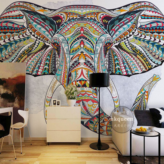 Custom 3d wallpaper for walls 3d animal totem photo for 3d wallpaper for bedroom indian