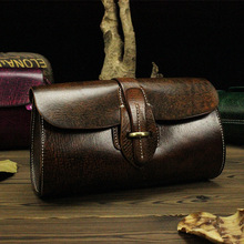 Vintage Handmade 100% Genuine Vegetable Tanned Leather Cowhide Women Small Messenger Bag Shoulder Cross Body Bag Bags Handbags