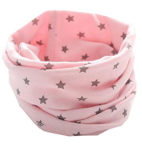 Новинка; сезон осень-зима; шарф из хлопка для девочек; Детский шарф; нагрудный шарф для мальчиков и девочек с круглым кольцом; милый детский шарф с воротником; Bufandas - Цвет: pink star
