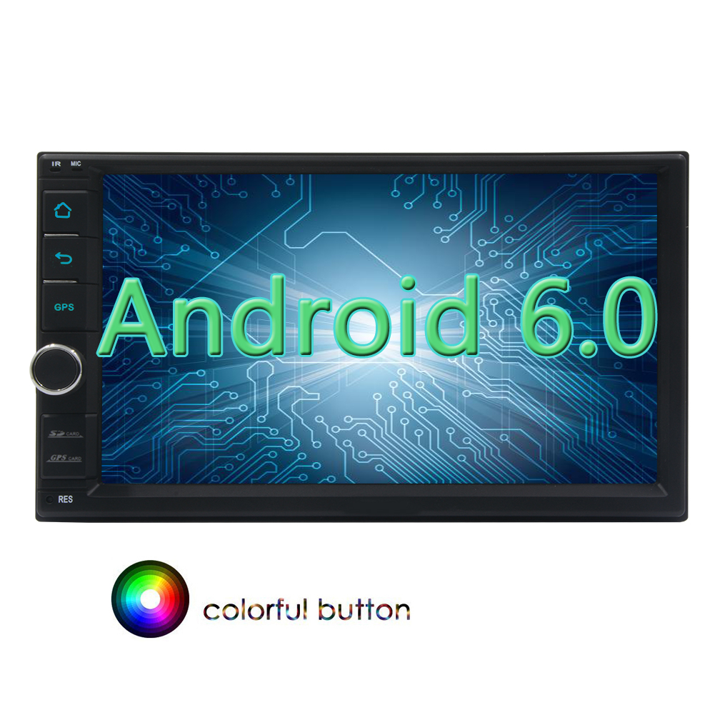 In Dash Android 6.0 For Universal Double 2Din Car GPS Navigation Auto Stereo Radio 6.2\